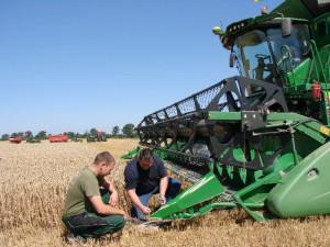 Landwirt Feld Bild